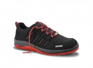 Buty Elten Maddox black-red Low ESD S3